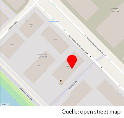 Kartenansicht der Praxis activ baumann in der Gutenfelsstraße 9 in 28217 Bremen